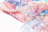 Écharpe estampée par guindineau en soie pur de Madame 100% longue