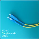 Cabo de remendo da fibra óptica do PC Sc-Sc