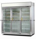 3000L清涼飲料のセリウムが付いている商業直立したガラスドア冷却装置
