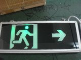 Sinal recarregável claro da saída da luz Emergency do diodo emissor de luz com sinal dobro da saída do diodo emissor de luz do lado 12V com sinal acrílico do diodo emissor de luz da luz de borda da bateria
