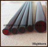 Obscuridade da resistência térmica - tubulação vermelha do vidro de quartzo do silicone