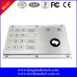 La prueba de vandalismo Stailess teclado de acero con trackball integrado