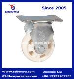 Гальванизированное колесо рицинуса PP твердой вилки белое