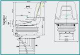 Assento hidráulico do Forklift da suspensão da tampa de PVC (YS3)