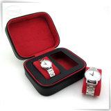 Cadre personnalisé par luxe fabriqué à la main en cuir de montre de Mens d'unité centrale pour les hommes