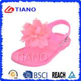 Sandalo Jellyl della ragazza di modo con il fiore (TNK50023-1)