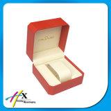 Caixa de empacotamento relógio plástico especial da caixa de relógio do folheado do papel de couro do único