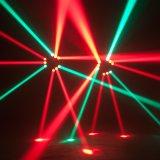 広州Baiyun地区9PCS 12W RGBW 4in1のクリー族セリウムRoHSが付いている無限回転LEDのくものビーム移動ヘッド