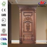 Porta de madeira luxuosa do núcleo contínuo do artesão boa