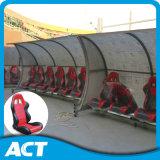 Assento móvel luxuoso do abrigo da equipa de futebol para a equipe de funcionários, os jogadores e os árbitros do ônibus