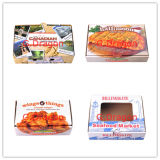 Blanco Kraft corrugado Custom Logo Impreso Take Away E Flauta Take Away Pizza Box