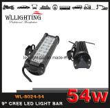 """La fabbrica direttamente fissa il prezzo del CREE LED fuori dalla barra chiara 9 """" 54W Wl-8024-54 (LED-LIGHT-BAR) della strada"""