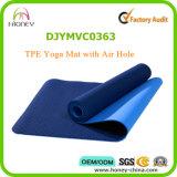 Сплошной цвет вентилирует циновку йоги TPE с циновкой спортов отверстия для воздуха удобной