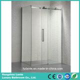 Sitio de ducha rectangular del vidrio de desplazamiento para el hotel y el hogar (LT-8721A)