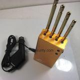 Brouilleur portatif d'or puissant du WiFi GPS de téléphone cellulaire