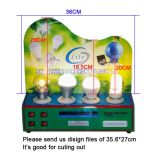 Verificador da luz do programa demonstrativo do medidor de poder da exposição de diodo emissor de luz