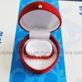 Caja de presentación de lujo de la pulsera de reloj del terciopelo de la venta caliente