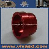 Красная анодированная часть CNC подвергая механической обработке