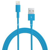 cabo de dados da sincronização do cabo do carregador do USB do Pin do OEM 8 de 3FT para o iPad 6+ do iPhone 5 5s 5c 6 mini - azul