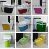 Courroie vidante de Siphonic de toilette de toilette monopièce en céramique de couleur (A-009)