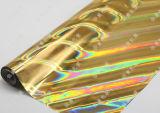 ホログラフィック金の熱い押すホイル