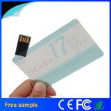 Cartão de crédito feito sob encomenda transparente relativo à promoção Pendrive do logotipo