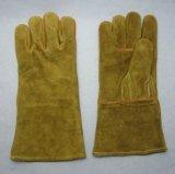Кожа коровы Split усилила перчатку работы заварки Welted большого пальца руки