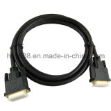 Hoge snelheid die DVI aan DVI Kabel met Goud Geplateerde Schakelaar vormt