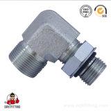 Raccord hydraulique mâle d'ajustage de précision de pipe de Bsp de coude de 90 degrés (1BH9-OG)