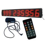 """5 """" 9 pulso de disparo com segundos das actas das horas, cor vermelha dos dias Countdown/up do diodo emissor de luz dos dígitos"""