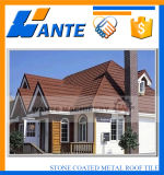 容易なインストール多彩な石の上塗を施してある金属の屋根瓦