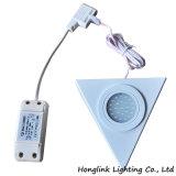 24PCSランプが付いている表面によって取付けられる白い三角形LEDのキャビネットライトLED