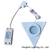 24PCS 램프를 가진 표면에 의하여 거치되는 백색 삼각형 LED 내각 빛 LED