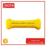 Стренги упаковки 3 PP веревочка 6mm желтой Twisted