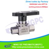 Clapet anti-retour à haute pression de robinet à tournant sphérique de l'acier inoxydable 304 (8500psi 586bar NPT1/4)
