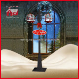 Klassisches Red und Black Snowing Street Light für Christmas Decortion