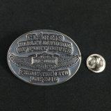 Значок пластмассы и металла Pin таможни конструкции способа многоразовый пустой, магнитная нагрудная планка с фамилией участника