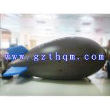 Weißes Kurbelgehäuse-Belüftung, das aufblasbare grosse Luftschiff-Ballone/aufblasbaren Luftschiff-Helium-Ballon bekanntmacht