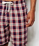 Indumento del commercio all'ingrosso del reticolo dell'assegno di Shorts della spiaggia degli uomini di stampa di modo