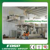 A madeira da grande capacidade 15tph registra a pelota que faz a planta com certificado do ISO