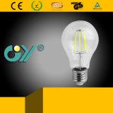 Ampoule chaude des ventes DEL A60 Filamet avec du ce d'E27 RoHS
