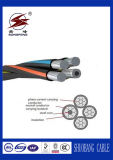 Cable contenido aéreo del ABC del aislante del conductor XLPE de AAC/AAAC/ACSR