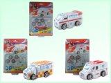 O jogo educacional do enigma dos brinquedos 3D puxa os carros (H4551412)