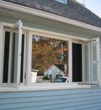 이중 유리를 끼우는 Windows, 유리창, AS/NZS2208를 가진 알루미늄 여닫이 창 Windows