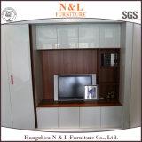 PVC blanco de la alta calidad que resbala el armario de 6 ropa de las puertas