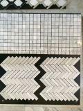 Белые плитки мозаики Carrara мраморный для нутряного & внешнего украшения