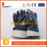 Luvas revestidas da segurança do nitrilo das luvas do algodão (DCN308)