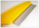 Peine plástico de los piojos de la maneta de las herramientas de la preparación del perro y del gato