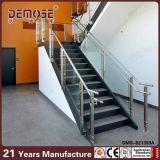 Pasamano de cristal de la escalera de la casa moderna (DMS-B21349)