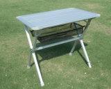 Tabela de dobradura ajustável ao ar livre de acampamento do piquenique do peso leve de alumínio resistente